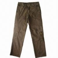 Wholesale Men's Winter Cargo Pants with 8 Pockets, Made of Cotton Ring Twill Peach, DIP + Enzyme Wash from china suppliers