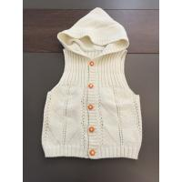 Buy cheap Baby Sleeveless Vest Cardigan Hood Sweater , Cotton Heavy Gauge Kids White Vest from Wholesalers