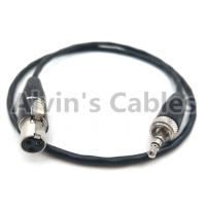 China SONY D11 Camera Audio Cable 3.5mm TRS Audio Plug Conversion locking 3.5mm TRS Audio Plug To 3 Pin MINI XLR female on sale
