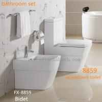 hot sale ceramic bathroom sets washdown one piece toilet with bidet and wall hung toilet of item. Black Bedroom Furniture Sets. Home Design Ideas