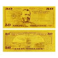 Wholesale 24 Kt 0.999 Gold Dollar Bill $50 from china suppliers