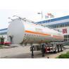 3 Axles 60 cbm aluminum Alloy Fuel tanker semi trailer / oil tank trailer