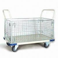 Wholesale Heavy-duty Iron Net Trolley with Powder-coated Handle and Capacity of 400kg from china suppliers
