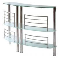 China Tempered Sanded Modern Glass Bar Table Three Layer For Supermarket on sale