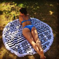 Wholesale Summer Beach Towel Round Beach Towel with tassel wholesale round beach towel large adult from china suppliers