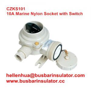 10A marine nylon CZKS101 1144/FS waterproof electricsocket with switch