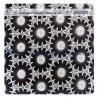 Fashion Big Black Floral Cotton Lace Fabric , 50% Cotton 50% Polyester