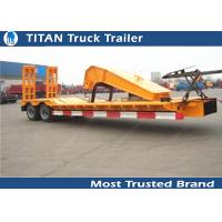 Quality SKD type low bed trailer truck with 2 axles , gooseneck lowboy trailers for sale