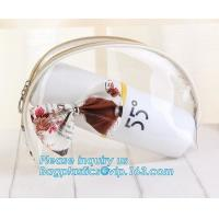 China Travel Environmental Shopping Bags / Storage PVC Cosmetic Bag With Zipper on sale