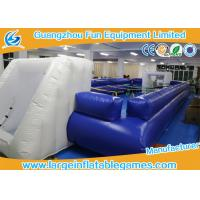 Buy cheap PVC Tarpaulin Inflatable Football Pitch / Inflatable Soccer Playground from wholesalers