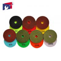 Wholesale 100mm Granite Diamond Polishing Pads 80 - 220 Mm For Buffing Marble Concrete from china suppliers