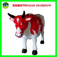 Wholesale customize size fiberglass animal  statue colorful cow model as decoration statue in garden /square / shop/ mall from china suppliers