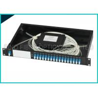 Wholesale 16 Channel Dual LC 1U 19 Rack Mount Box Fiber Optic CWDM Module Splitter from china suppliers