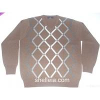 Wholesale Mens Cashmere Intarsia Sweater, Man's Cashmere Argyle Golf Pullover from china suppliers