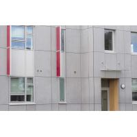 Buy cheap Cellulose Exterior Fiber Cement Board , Light Grey Cement Sheet Wall Panels from wholesalers