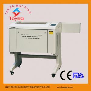 China Paper Laser engraving cutting machine 400 x 600mm ,60W laser tube,Ruida system TYE-4060 on sale