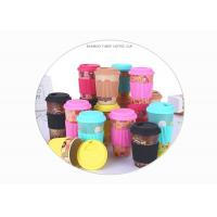 Wholesale Creative Bamboo Fibre Coffee Cup , Personality Anti Scalding Mug With Silicone Sleeve / Lid from china suppliers