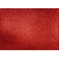 Wholesale Magenta Red Glitter Fabric For Dresses , Cold Resistance Shiny Glitter Fabric from china suppliers