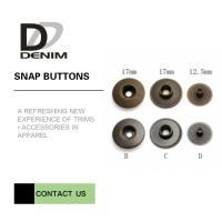 China Trench Coat Clothing Snap Buttons , Antique Ring Spring Snap Button 14L & 24L on sale