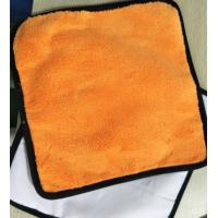 Wholesale Orange Colorful Coral Fleece 200gsm Suede Car Cleaning Cloth 30*30cm 400gsm from china suppliers