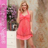 China Mature Women Fetish Sexy Night Dress Lingerie For Teen Girls with Fur Edge on sale