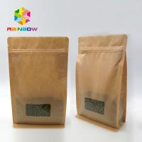 Buy cheap Window Kraft Paper Bags Zipper Top Sealing Customized Color For Food Packaging from wholesalers