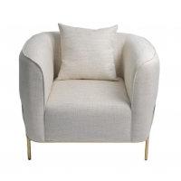 Wholesale fabric 89*85*90CM Upholstered Lounge Chair With Gold Stainless Steel from china suppliers