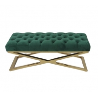 Buy cheap Modern and luxury design living room button tufted velvet ottoman bench with from wholesalers