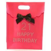 Wholesale 250 Gram White Card Board Paper Gift Bags For Advertising With Ribbon from china suppliers