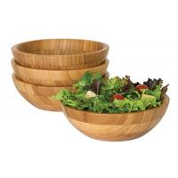 """Wholesale 4 Piece Bamboo Salad Set  7"""" X 2.25"""" More Endurable Than Porcelain Products from china suppliers"""
