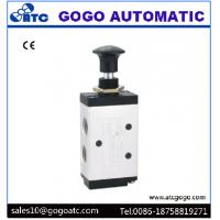 China Pneumatic 2 Position 5 Way Air Valve , 1/8 Port Manual Hand Operated Air Valve on sale