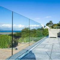 Wholesale outdoor tempered glass balustrade,u channel glass railing from china suppliers