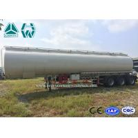 Wholesale High Capacity Stainless Steel Tanker Trailers , 40000l - 60000l Oil Tanker Trailer from china suppliers