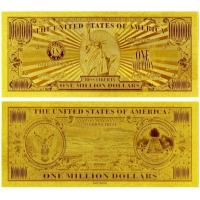 China United of America 1 Million Dollar Bill 24K Gold Foil Banknote for Value Collection on sale