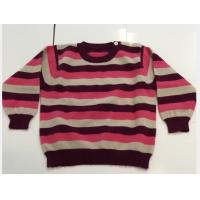 Buy cheap Long Sleeve Knit Toddler Sweater , 100% Cashmere Crew Neck Kids Wool Sweaters For Kid from Wholesalers