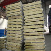 Wholesale 0.326mm steel sheet fireproof rock wool sandwich roof panel 5950 x 1150 x 50mm from china suppliers