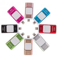 100% Real capacity 64GB OTG USB3.0 Flash drives Memory stick for iPhone 6S 6 5 Android PC Pendrive Micro USB Sticks
