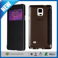 China PU Samsung Cell Phone Cases , Galaxy Note 4 S-View Flip Smart Leather Cover on sale