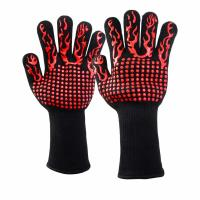 China 932F Extreme Heat Resistant BBQ Gloves BBQ Grill Glove For Cooking Baking on sale