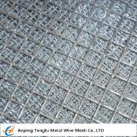 Wholesale Flat Top Crimped Wire Mesh |50X50mm Mesh Aperture Smooth Top Crim Wire Screen by Stainless Steel from china suppliers