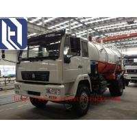 Wholesale 15000L / 15m3 Sinotruk Howo Sewage Pump Truck Q235 Tank Material ZZ1257N4341W from china suppliers