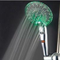 Wholesale LED Showerhead, Made of ABS Plastic with Chrome-plated, No Battery Needed from china suppliers