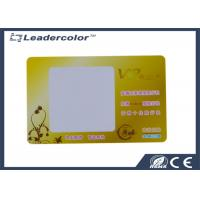 Wholesale Yellow Frosted MIFARE ® RFID Card 13.56 Mhz ISO 14443A Rewritable from china suppliers