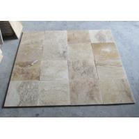 China Mixed Color Travertine Tiles Natural Paving Stone Travertine Wall Tiles Patio Stone on sale