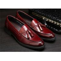 Full Grain Cow Leather Classic Dress Shoes With Tassels For Office Work