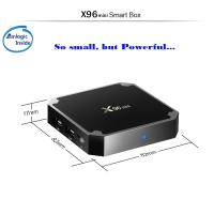 Wholesale Plastic X96 Mini Android TV Box S905W Quad Core 16GB Flash 2GB Memory from china suppliers