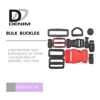 Wholesale POM Inch Size Bulk Belt Buckles Trims Black Plastic Contoured Side Release Buckle Styles for Bag from china suppliers