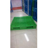 Green color reversible plastic pallet and demension 1100x1100x150mm from China