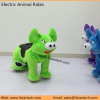Stuffed Animals Motorized Ride Coin Operated Plush Motorcycle Animals Plush Motorized