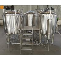 China 500 L Beer Brewing Kit Beer Making Equipment With Three Vessles Brewhouse on sale